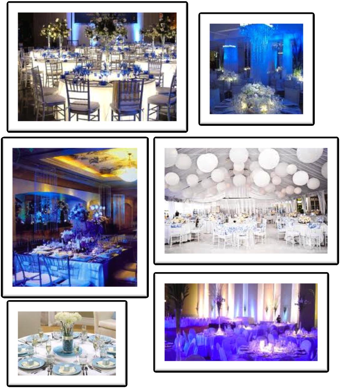 Decoracion bodas blanco y azul d for Decoracion petrole azul