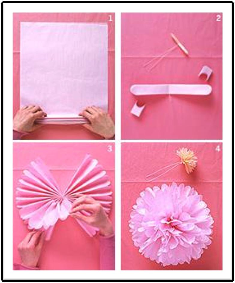 Pompones papel seda bodas d - Pompones con papel de seda ...