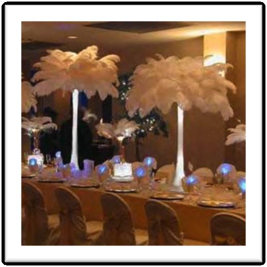 decoraci n bodas plumas d