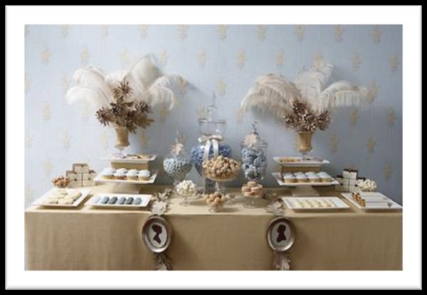 Mesa dulce con plumas - Decoracion tenerife ...
