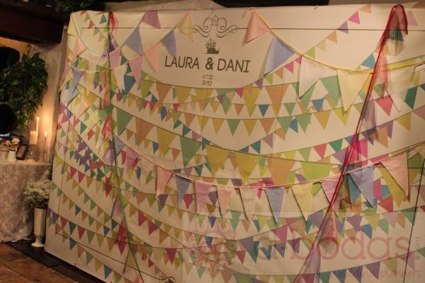 vintage banderines photocall, d-bodas.com