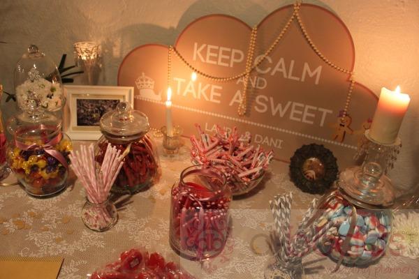 mesa dulce, candy bar, d-bodas.com wedding planners