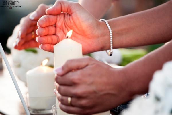 V&M, ceremonia de la vela, d-bodas.com wedding planners