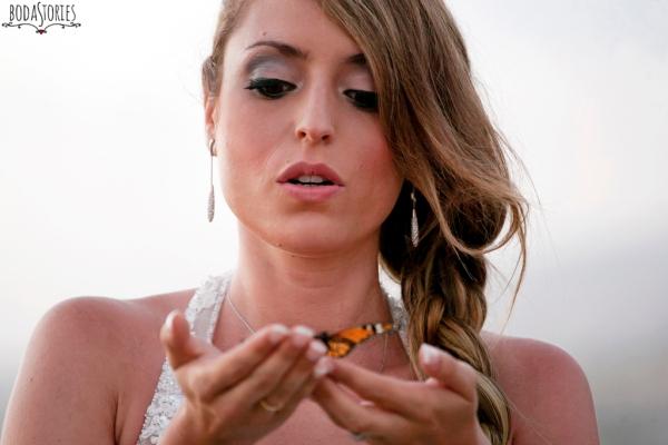 V&M, suelta de mariposas, d-bodas.com