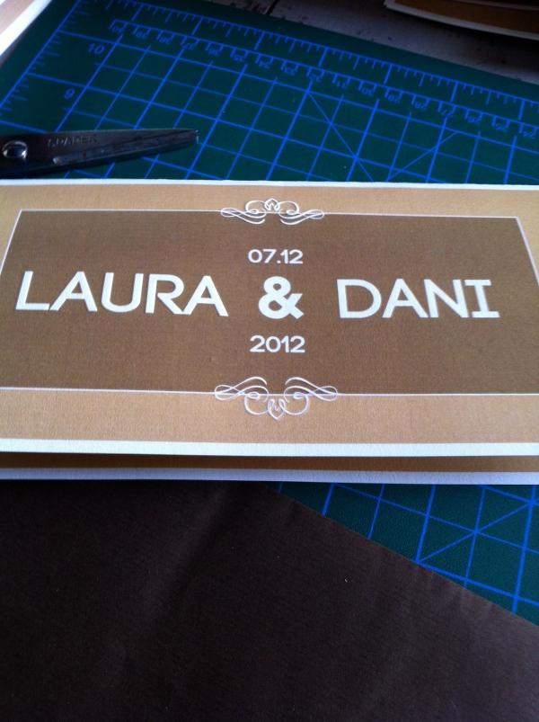 Invitacion hand made, d-bodas.com wedding planners