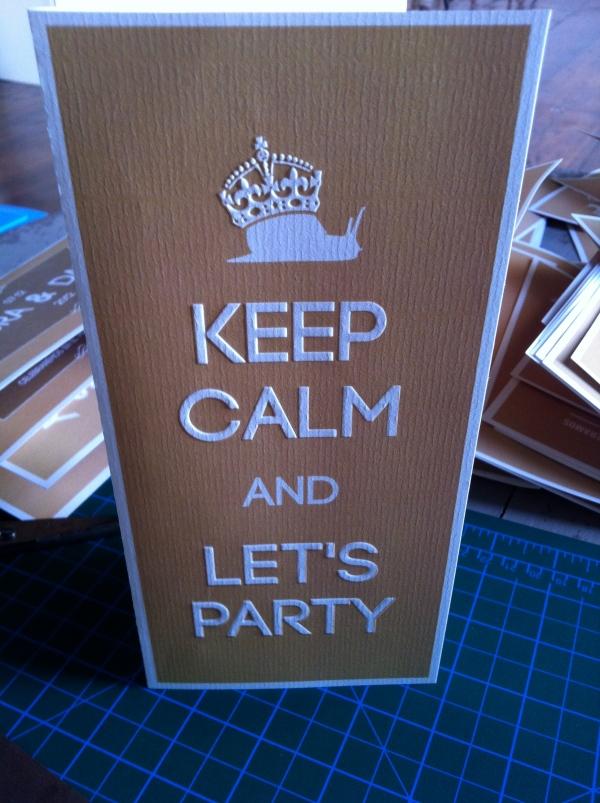 Invitación keep calm, d-bodas.com wedding planners