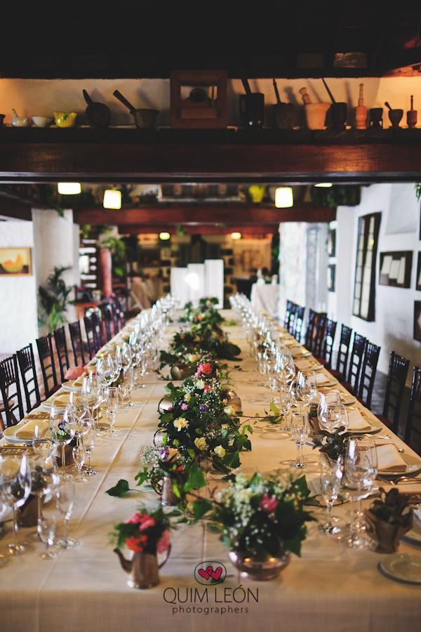 L&D decoración vintage mesa imperial boda