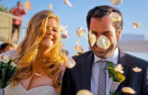 bodas playa petalos