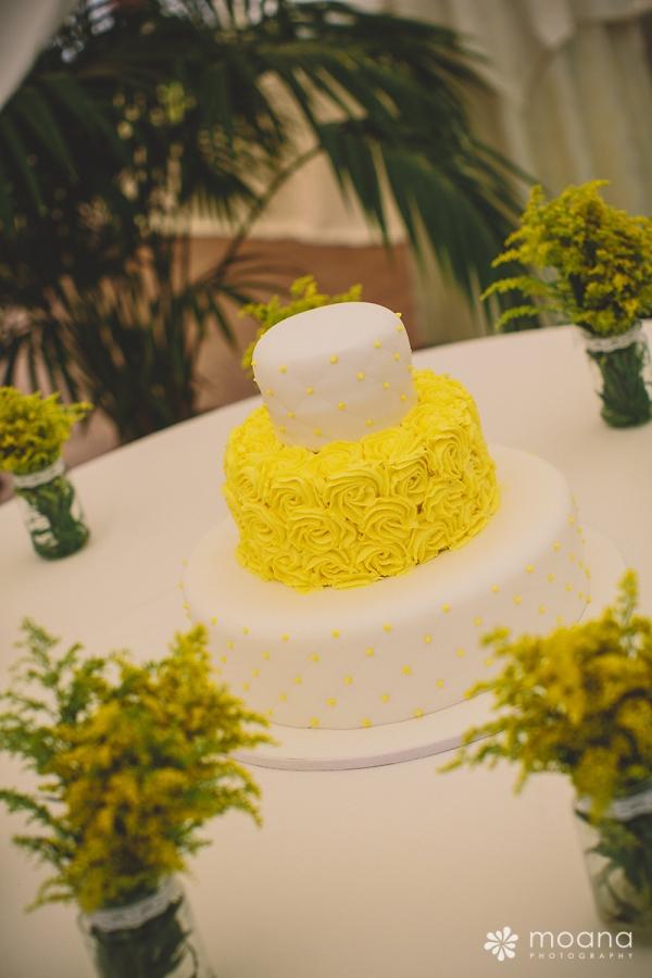 Tarta Nupcial Amarillo d-bodas.com
