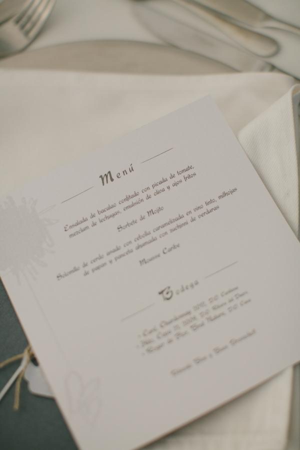 Detalle Menú de boda Tenerife