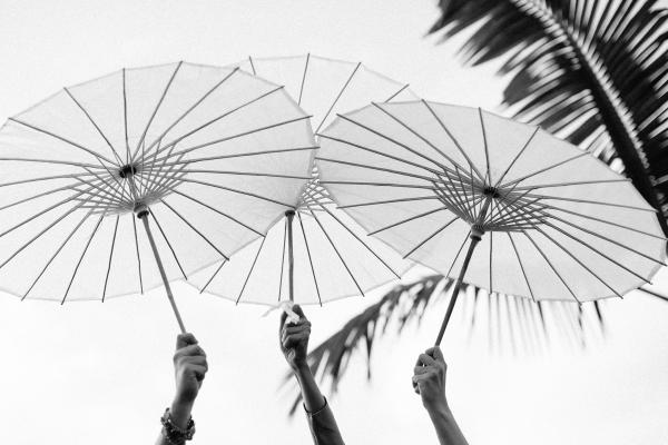 Sombrillas Boda Tenerife d-bodas.com